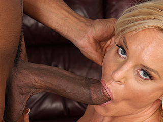 Alexis Golden Sucking Black Cock