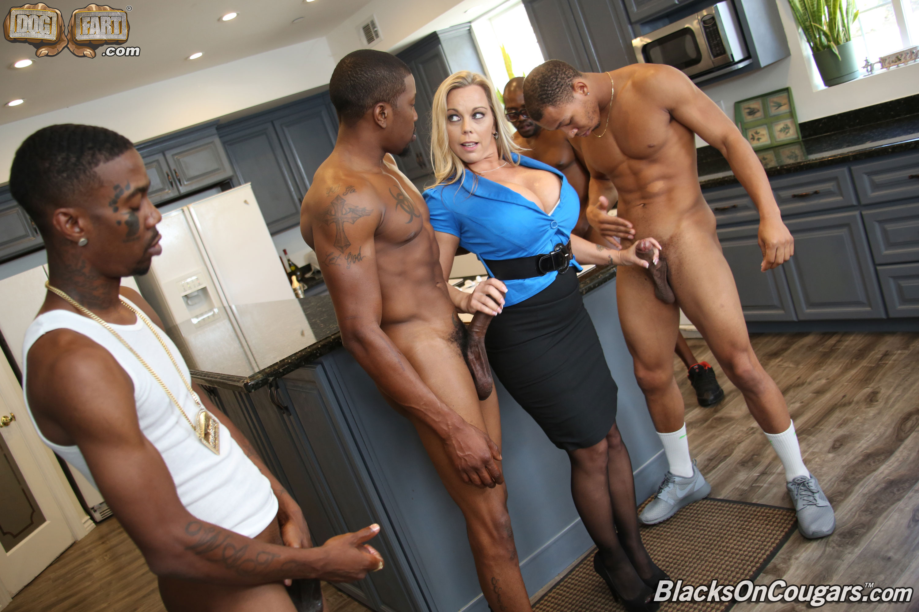 Amara romani gets gangbanged by black cocks 9