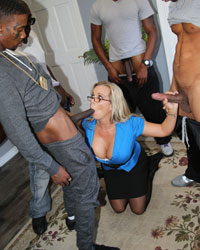 Amber Lynn Bach's Second Appearance Black Dick Group