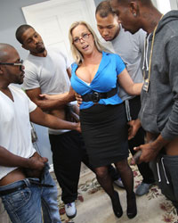 Amber Lynn Bach's Second Appearance Suck Big Black Dick