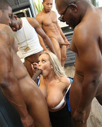Amber Lynn Bach's Second Appearance Interracial Creampie