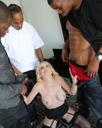 Cammille Interracial Gangbang Photos