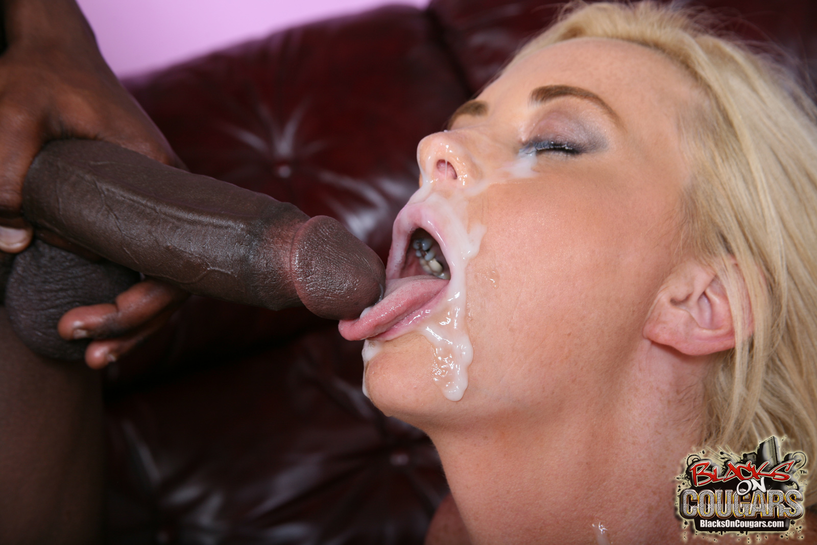 Blonde milf sucking black cock opinion