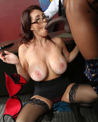 Charlee Chase Black Dick Blowjob