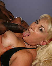 Dana Hayes - Blonde Cougar MILF picks up and fucks  black