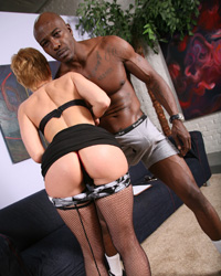 Gemma More Reverse Interracial Gangbang