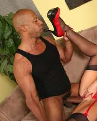 Karen Fisher - Sexy cougar cruises the streets for some big, black meat
