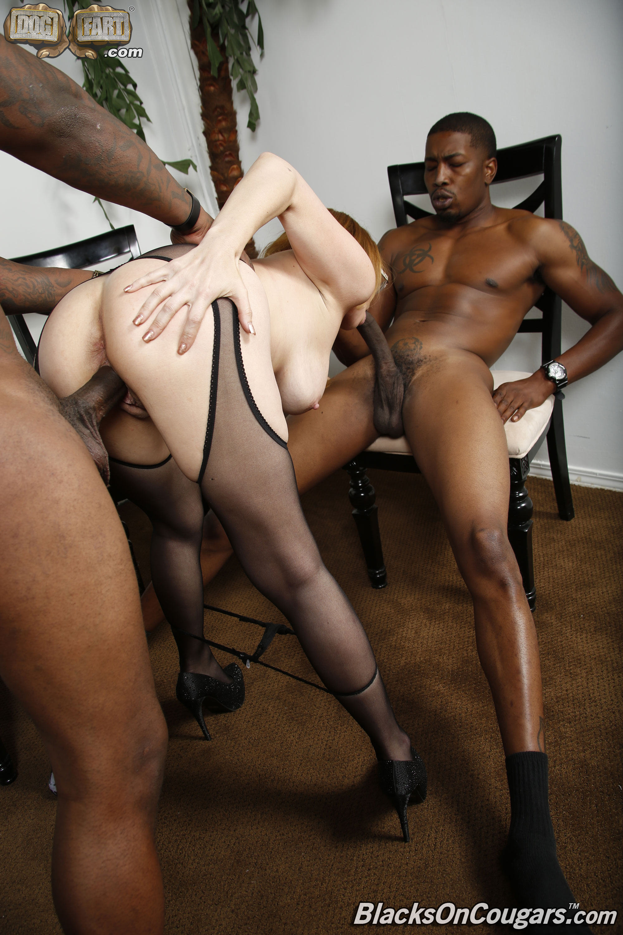 Black milfs white guy